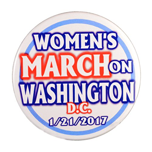 "Pack-1 Women's March On Washington Pin-Back Buttons (2.25"")"