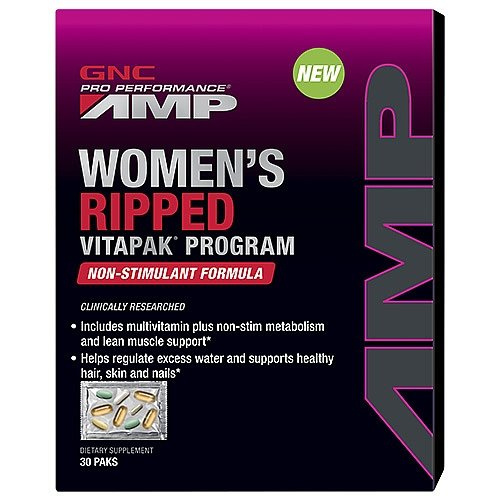 GNC Pro Performance AMP Womens Ripped Vitapak Program Non-Stimulant Formula