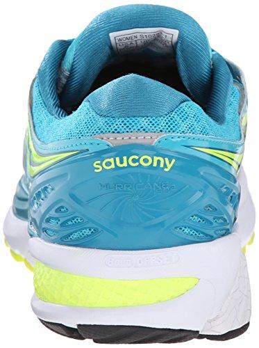 Running Saucony citron silver Iso Hurricane Zapatillas De blue citron blue silver blue Mujer 2 Para Azul XXrTZw