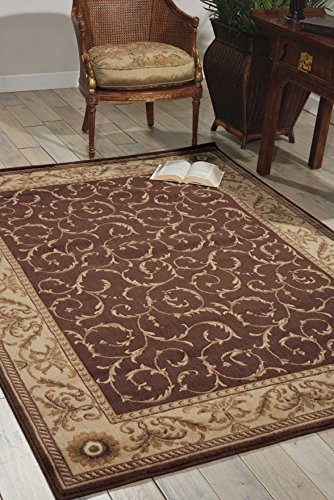 (Nourison Somerset (ST02) Brown Rectangle Area Rug, 3-Feet 6-Inches by 5-Feet 6-Inches (3'6