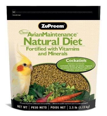 ZuPreem Natural Bird Food Cockatiel 2.5lb, My Pet Supplies