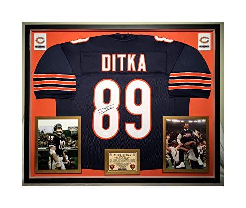 Premium Framed Mike Ditka Autographed/Signed Chicago Bears Jersey - JSA ()