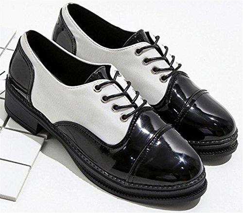 Platform White Lace Casual SATUKI Up Shoe Oxford Shoes for Women Dress Heel YwxPqnXAp