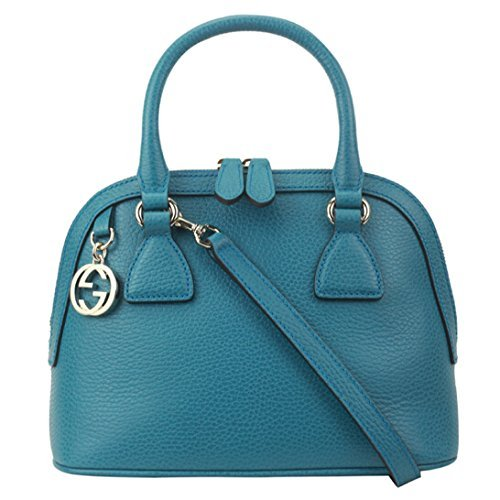 Gucci Women's Leather 2 Way Convertible GG Charm Small Dome Purse (Gucci Ladies Bags)