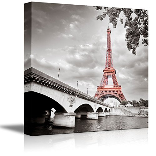 - wall26 - Eiffel Tower in Paris France - Canvas Art Wall Decor - 24