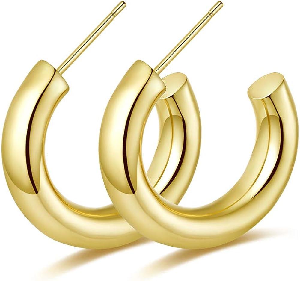 Gold Hoop Earrings...