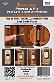 Punch Point P62-6 Deadbolt Strike Plate Location Tape for Non-tapered Bolts/Standard size (6 pieces)