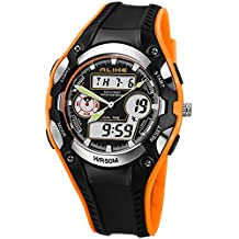 High Quanlity New Hot Ak9132 50m Waterproof Analog & Digital Display Sports Diving Watch for Unisex (orange)