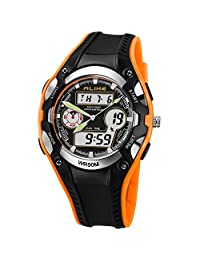 High Quanlity New Hot Ak9132 50m Waterproof Analog & Digital Display Sports Diving Watch for Unisex (orange)