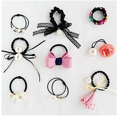 Corbata de goma para el cabello, para coleta o coleta: Amazon.es ...