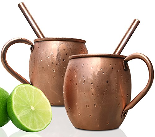Moscow Mule Copper Mugs Set