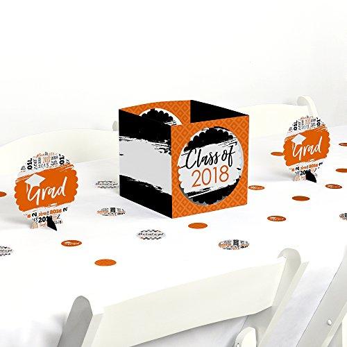 Orange Grad - Best is Yet to Come - Orange 2018 Graduation Party Centerpiece & Table Decoration (Graduation Table Centerpiece Ideas)