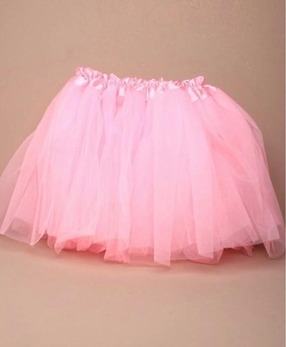 Disfraz infantil - Falda Tutu rosa - Cintura con goma elástica ...