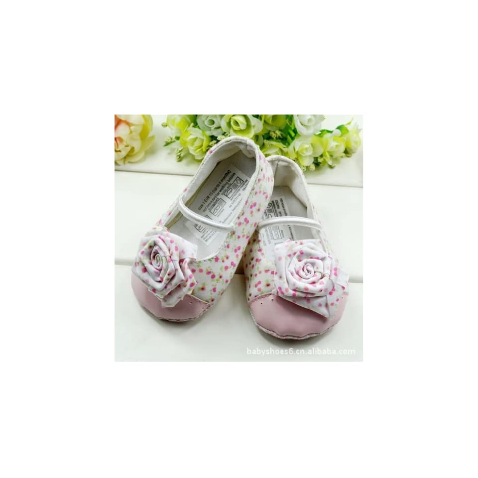Soft Sole Toddler Infant Baby Girls Princess Flower Pink Rose Walk Shoes Age 6 9 Months Clothing