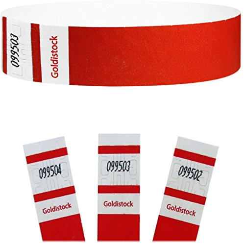 goldistock-select-series-3-4-tyvek-wristbands-neon-red-500-count-event-identification-bands-paper-li
