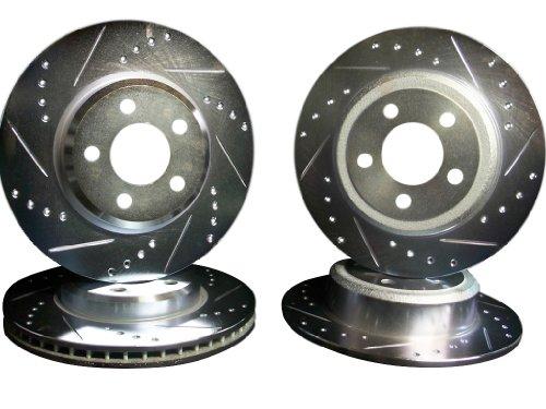 2006-2013 Dodge Charger V6 RWD Front & Rear Brake Disc Rotors +Pads