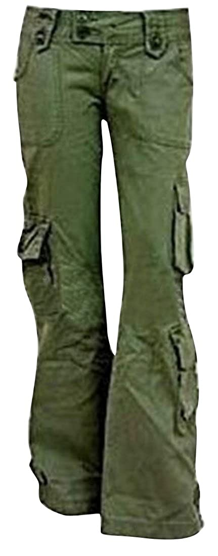 d3de9407cd77 OTW-Women Summer Casual Baggy with Pockets Pure Color Cargo Pants Trousers:  Amazon.ca: Clothing & Accessories