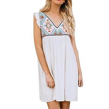Wawer Vestido de verano para mujer, Mini vestido de noche de pintura, casual vacaciones
