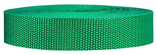 (Strapworks Heavyweight Polypropylene Webbing - Heavy Duty Poly Strapping for Outdoor DIY Gear Repair, 1 Inch x 10 Yards - Kelly Green)