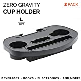 PARTYSAVING 2-Pack Zero Gravity Lounge Chair Cup Holder Attachment with Accessory Slot and Two Cup Holders, Universal Fit, APL1799