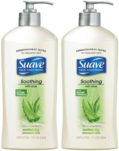 (Suave Hand and Body Lotion with Soothing with Aloe 18 oz ( Pack of 3) )