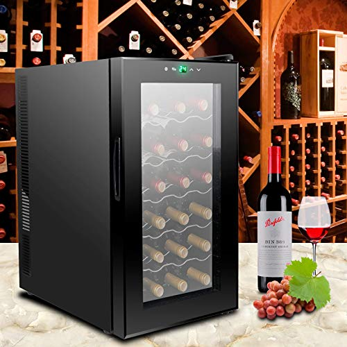 lunanice 18 Bottles Wine Cooler Refrigerator Air-tight Seal Quiet Temperature Control by lunanice (Image #1)