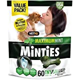 Vetiq Minties Dog Dental Bone Treats, Dental Treats For Dogs, Tiny/Small, 24Oz