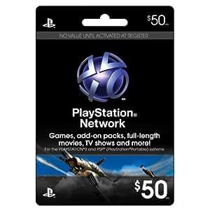 $50 PSN Prepaid Game Card
