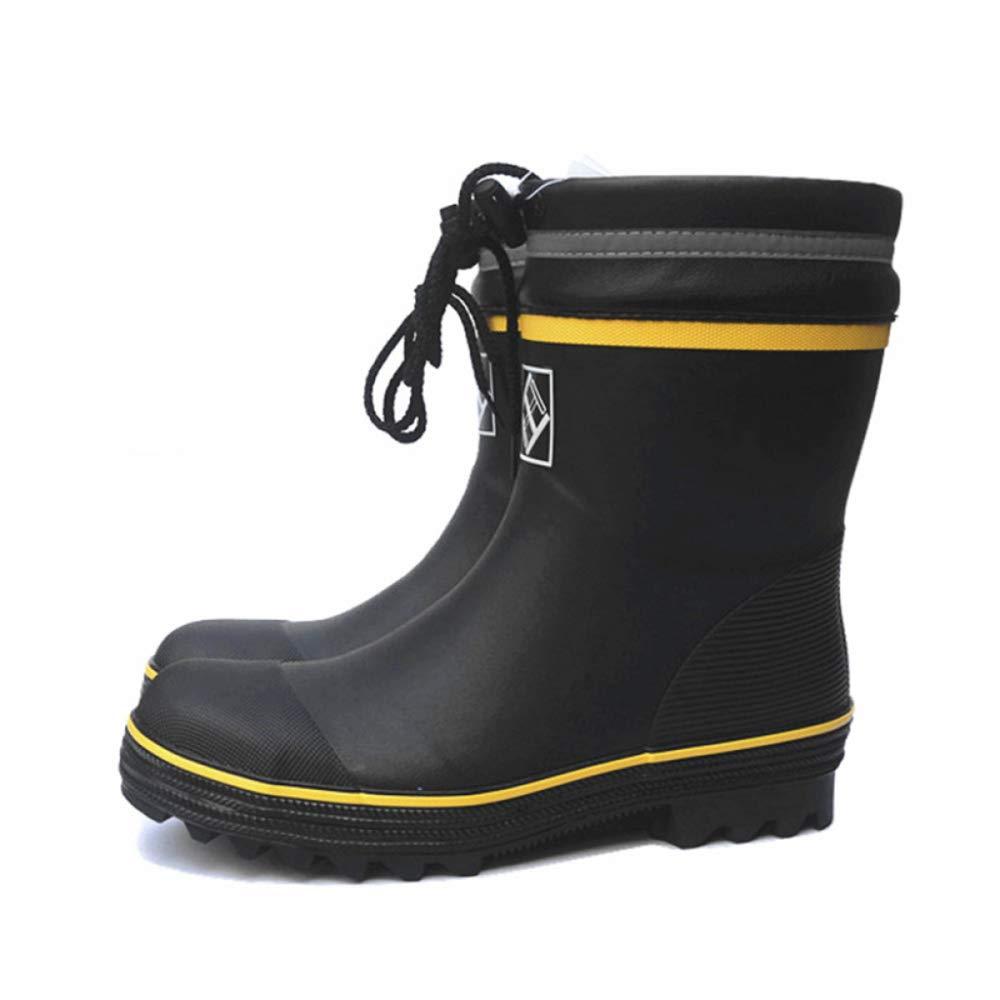 Herren Stiefel Arbeitsstiefel Wasserdichte Schuhe Herren Sicherheits Regenstiefel Anti Smash Stahlkappe