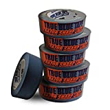 True Blue Premium Blue Professional Painter's Masking Tape – Indoor and Outdoor Use – Commercial Grade - Available in 2 Widths – Works on a Variety of Surfaces (1.5 Inch, 6-Pack)