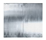 Triton Products LocBoard LB2-S (2) 24 In. W x 42-1/2 In. H x 9/16 In. D Stainless Steel Square Hole Pegboards with Wall Mounting Hardware, 24'' x 42.5'' x 9/16''