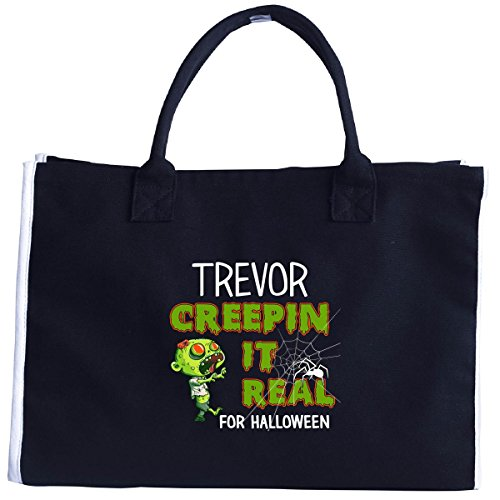 Trevor Halloween Costume (Trevor Creepin It Real Funny Halloween Costume Gift - Tote)