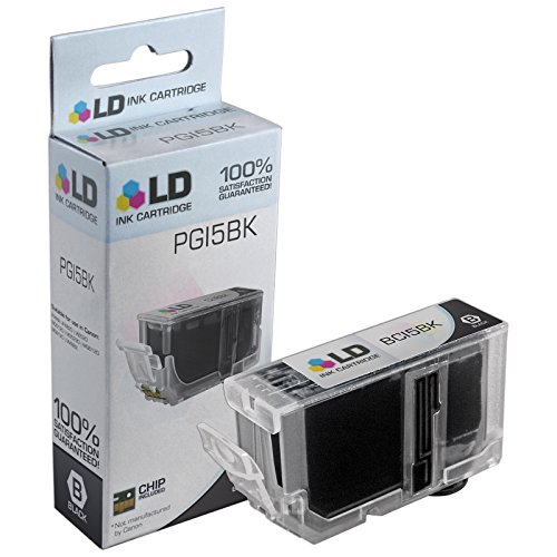 LD © Canon Compatible PGI5 and CLI8 Set of 16 Ink Cartridges Includes: 4 Pigment Black (PGI5BK), 3 Black (CLI8BK), 3 Cyan (CLI8C), 3 Magenta (CLI8M), and 3 Yellow (CLI8Y) Photo #2