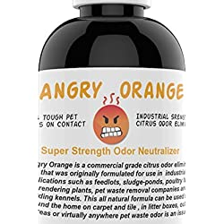Angry Orange Pet Odor Eliminator I Dog and Cat Odor Remover I Offsets Pet Stains For Cleaner Floors & Carpets | Eight Oz. Bottle of Stain Odor Eraser Concentrate Makes One Gallon Urine Remover Spray
