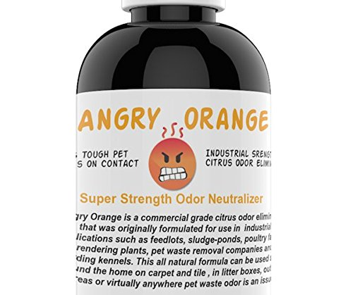 Angry Orange Pet Odor Eliminator 8 oz. bottle- Industrial Strength Pet Odor Remover - Makes (4)...