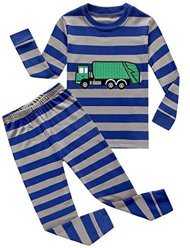 Sleeve 2 Piece Pajamas - IF Pajamas Garbage Truck Little Boys' 2 Piece T-Shirt & Pajamas Pants Pjs 100% Cotton Size 2T