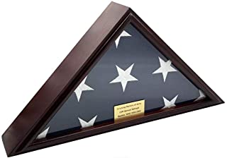 product image for 5x9 Burial/Funeral/Veteran Flag Elegant Display Case, Solid Wood, Cherry Finish, Flat Base (5x9, Flat)