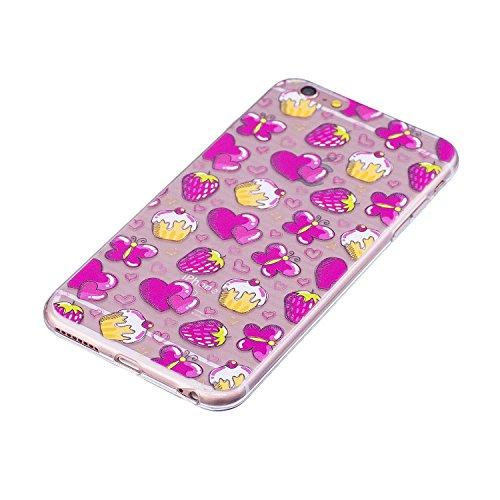 Coque iPhone 6 / 6S Amoureux Premium Gel TPU Souple Silicone Transparent Clair Bumper Protection Housse Arrière Étui Pour Apple iPhone 6 / 6S Avec Deux cadeau