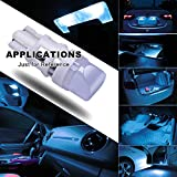 DODOFUN Ice Blue T10 W5W 168 194 2825 501 LED Bulbs For Car Number Plate Interior Boot Dome Lights Pack of 10