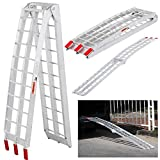 Yaheetech 7.5 ft Aluminum Motorcycle Loading Ramp, Foldable