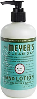 product image for Mrs. Meyer's Clean Day Hand Lotion, Long-Lasting, Non-Greasy Moisturizer, Cruelty Free Formula, Basil Scent, 12 oz