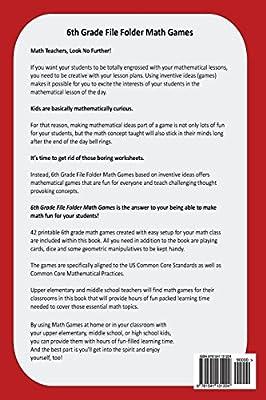photograph regarding 6th Grade Math Games Printable identify 6th Quality Document Folder Math Online games via Justin Holladay - Amazon.ae