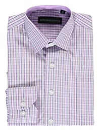 "Kids World Little Boys' ""Tonal Windowpane"" Dress Shirt"