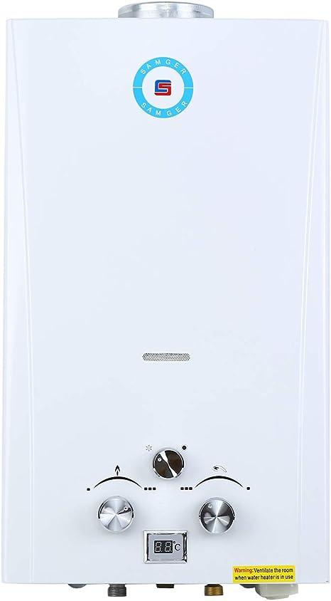 Samger 10L LPG Calentador de Gas sin Tanque Petróleo Licuado Quemador de Agua Caliente Instantaneo Calentadors de Agua