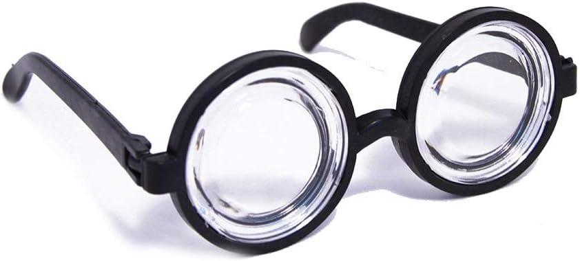 2 x Doofi Brille Scherzartikel Unisex Brillen Doofibrille Nerd Nerdbrille Komplettbrille