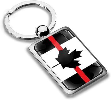 Biomar Labs® Llavero de Regalo para Hombre y Mujer 3D Metal con Diseño de la Bandera de Canada, Thin Red Line Flag KK 228: Amazon.es: Coche y moto