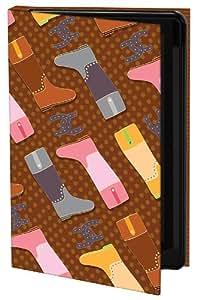 Keka Classic - Funda rígida para iPhone 4 y 4S (fijación a presión), diseño de botas de Alex Colombo, multicolor