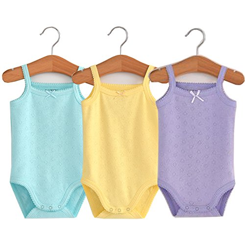 Infant/Toddler Baby Girls Boys Sleeveless Onesies Tank Top Cotton Baby Bodysuit Pack of Summer Baby Clothes Outfit (0-3 Months)