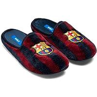 Zapatillas Oficiales FC Barcelona Clásicas Zapatillas de Estar por casa Hombre Invierno Otoño