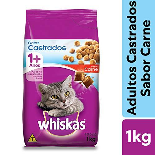 Ração Para Gatos Whiskas Carne Adultos Castrados 1kg